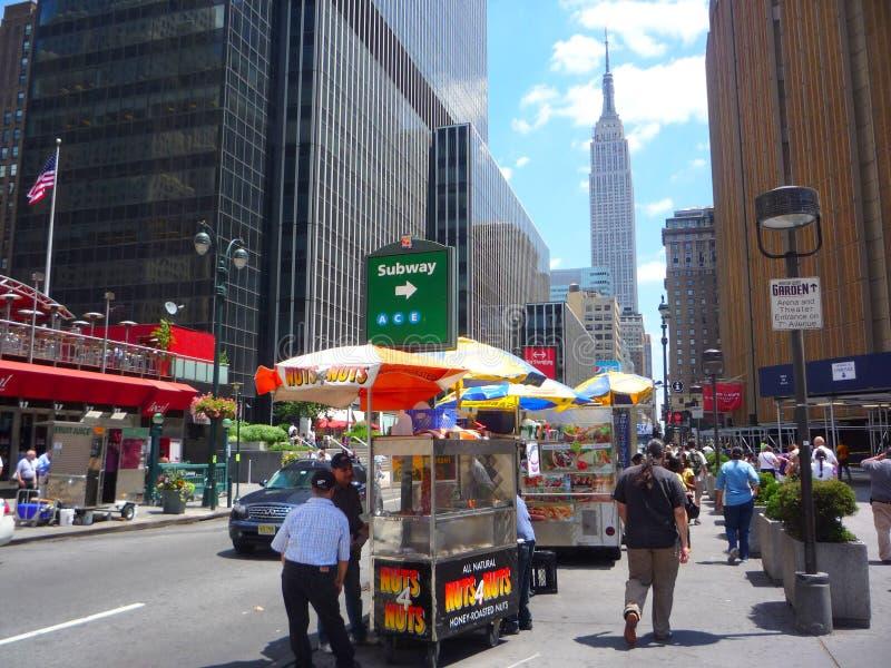 новые улицы york стоковое изображение