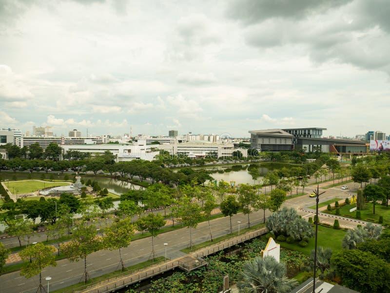Новые штабы открытой акционерной компании телекоммуникаций CAT ограничиваемой в Таиланде стоковое фото rf
