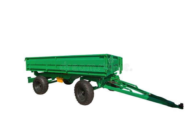 Новый аграрный трейлер изолированный на белой предпосылке с clipp стоковая фотография