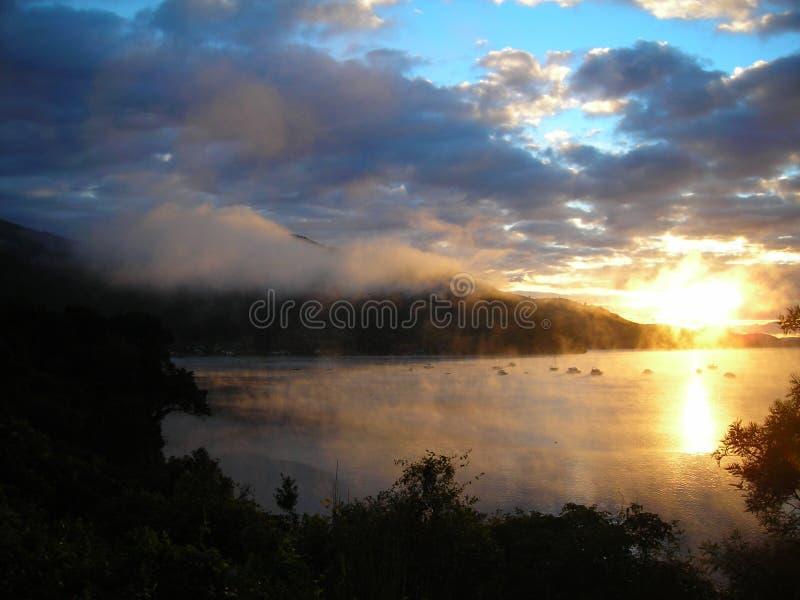 новый восход солнца zealand стоковая фотография