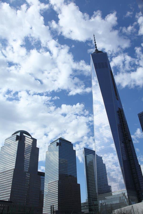 Новый всемирный торговый центр в более низком Манхаттане стоковые фотографии rf