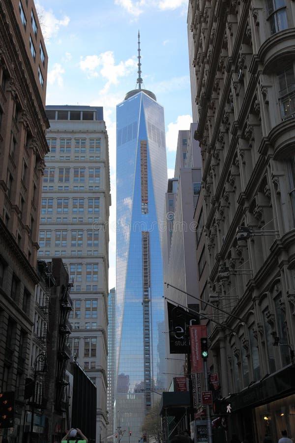 Новый всемирный торговый центр в более низком Манхаттане стоковое фото rf