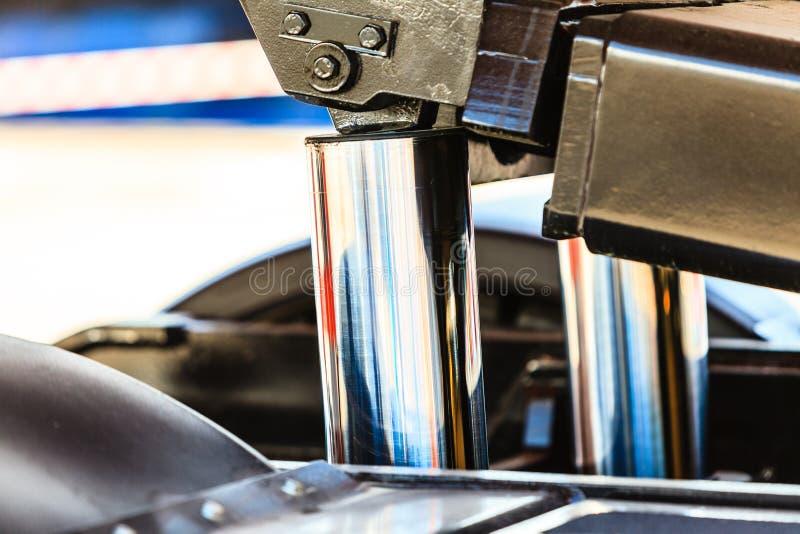 Новый гидравлический крупный план поршеней стоковое изображение