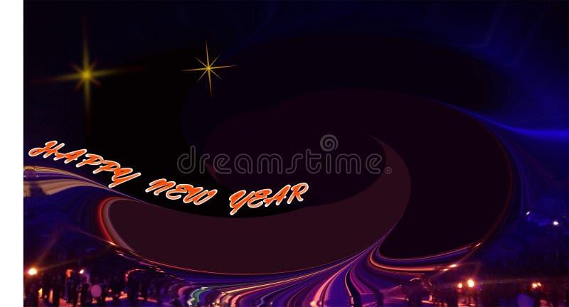 Новый Год абстрактного изображения счастливый с небом звездной ночи стоковое фото
