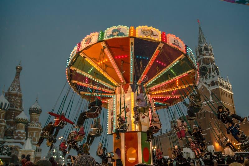 Новый Год красной площади Москвы стоковая фотография