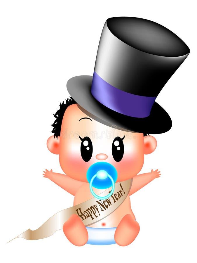 Новый Год младенца иллюстрация штока