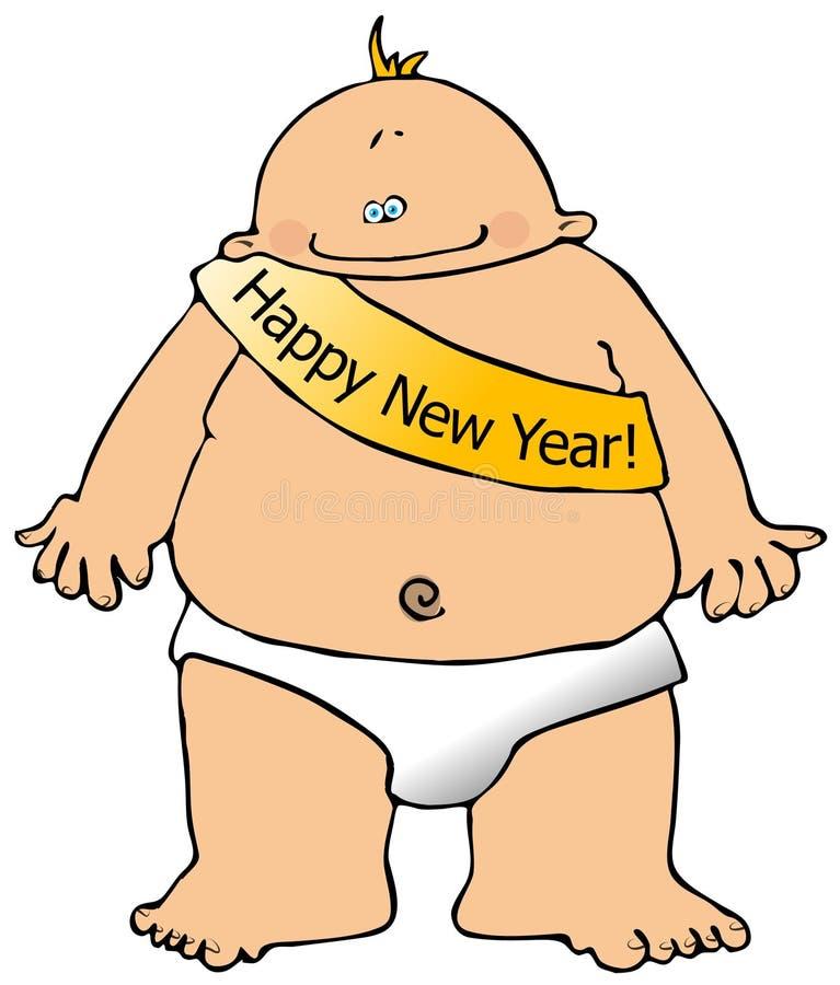 Новый Год младенца иллюстрация вектора