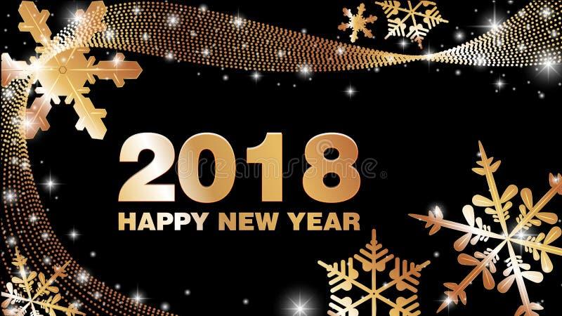 Новый Год 2018 предпосылки вектора счастливый стоковое фото rf