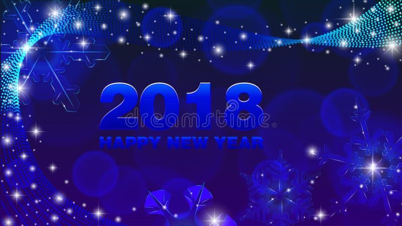 Новый Год 2018 предпосылки вектора счастливый стоковое изображение rf