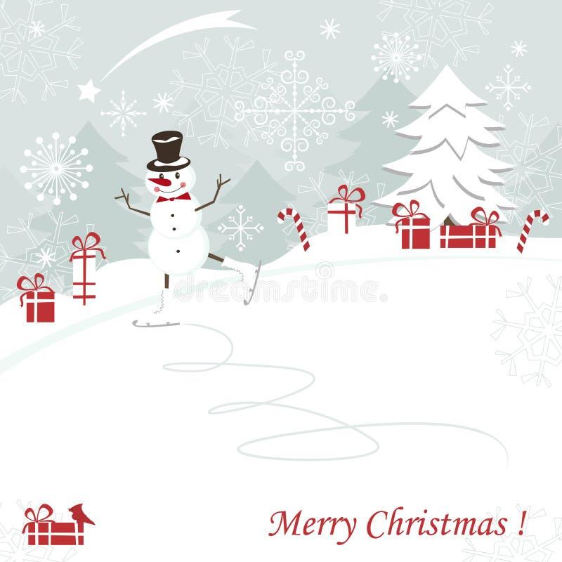 Новый Год приветствию рождества карточки иллюстрация штока