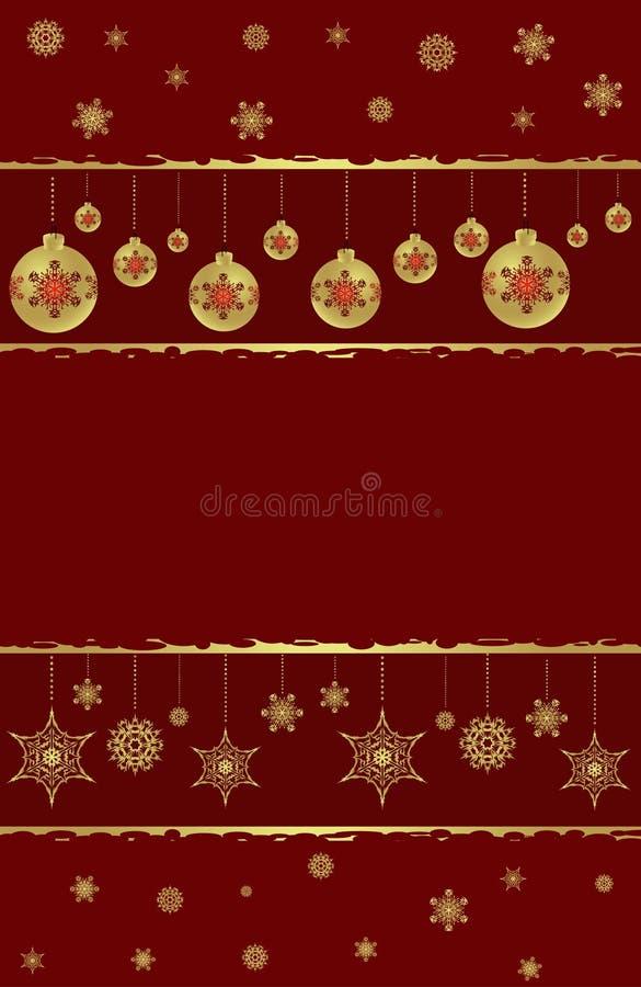 Новый Год рождества предпосылки иллюстрация вектора