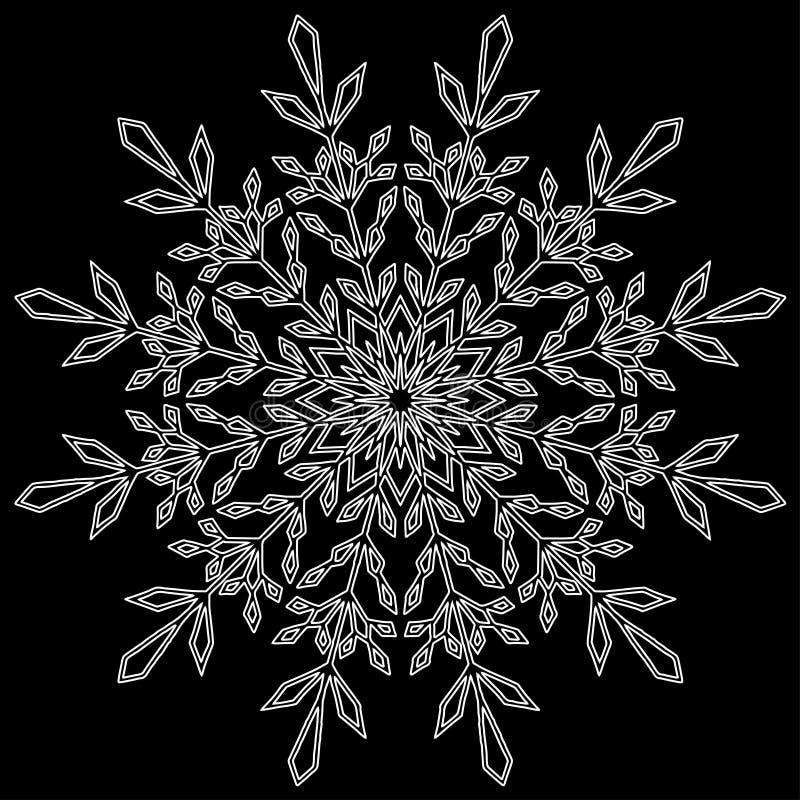 Новый Год рождества снежинки стоковое изображение rf