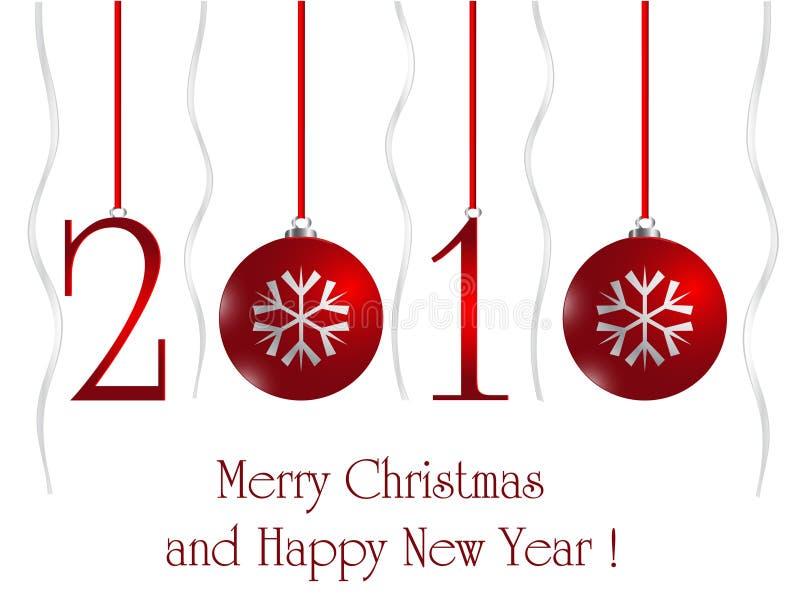 Новый Год рождества 2010 карточек иллюстрация штока