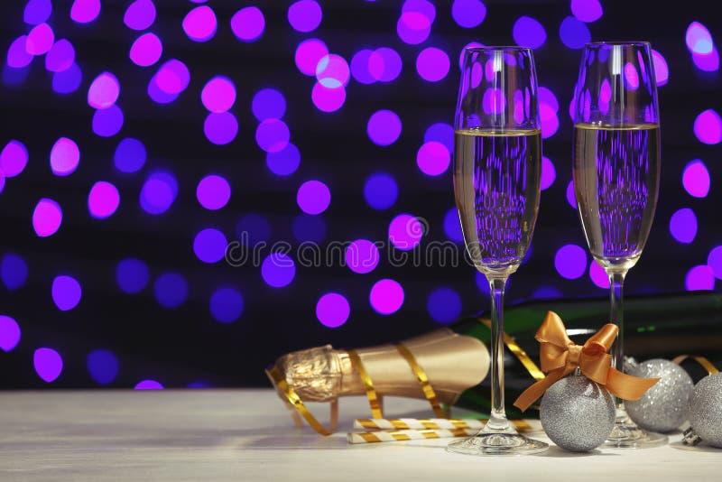 Новый Год состава шампанского стоковая фотография