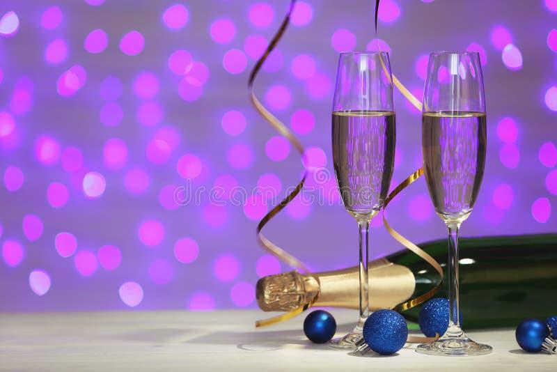 Новый Год состава шампанского стоковая фотография rf