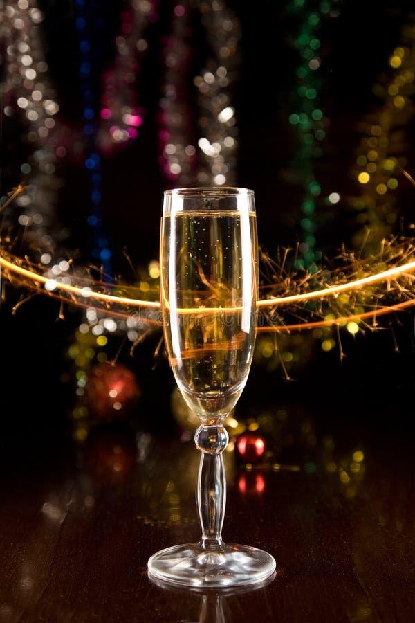 Download Новый Год шампанского карточки Стоковое Изображение - изображение насчитывающей конец, питье: 6868847