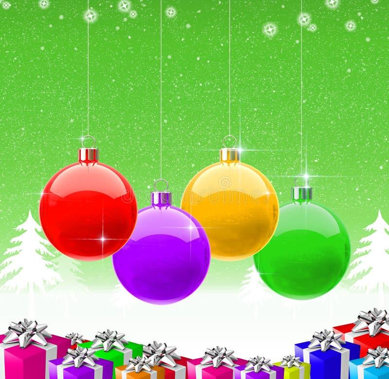 Новый Год 2009 рождества предпосылки счастливое веселое иллюстрация вектора