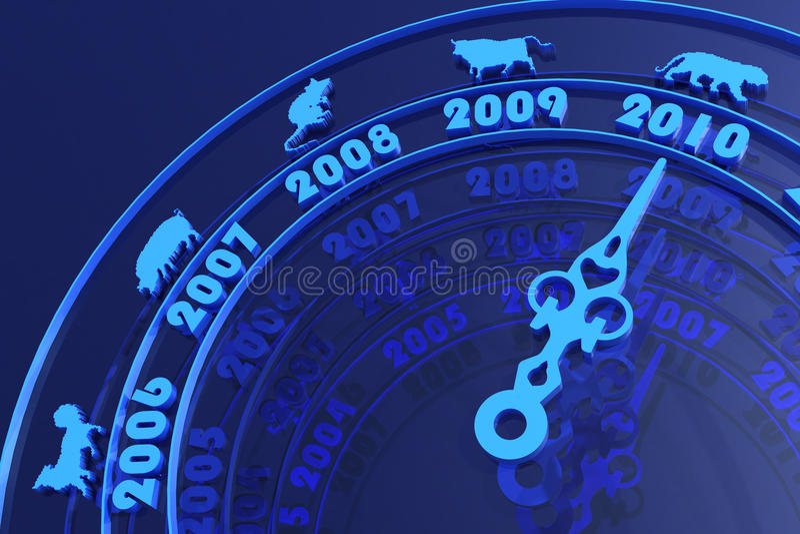 Новый Год 2010 принципиальной схемы иллюстрация вектора