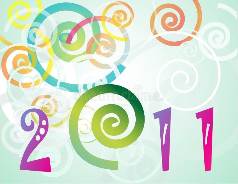 Новый Год 2011 предпосылки счастливое бесплатная иллюстрация