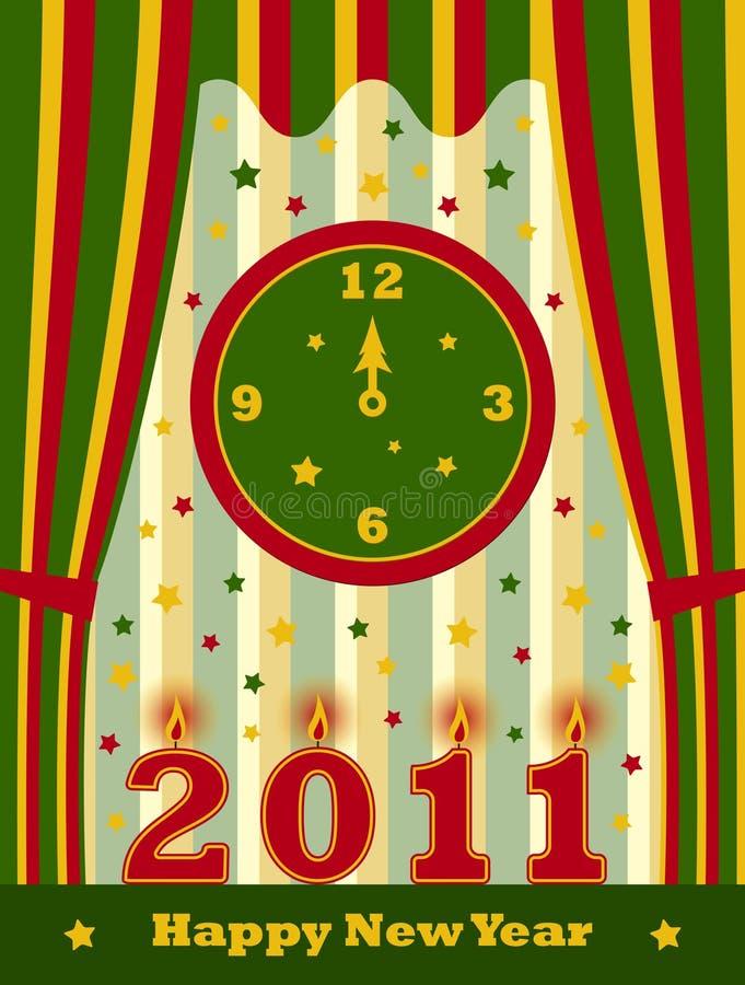 Новый Год 2011 предпосылки счастливое иллюстрация вектора
