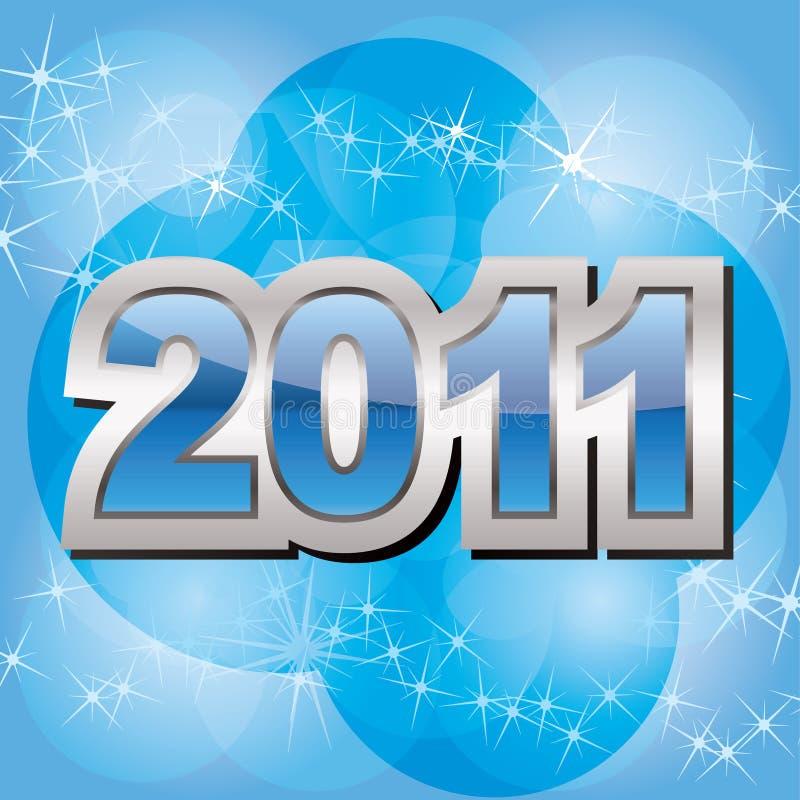 Новый Год 2011 предпосылки иллюстрация штока