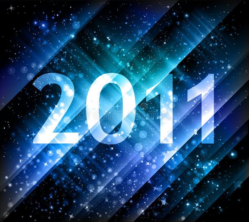 Новый Год 2011 предпосылки иллюстрация вектора