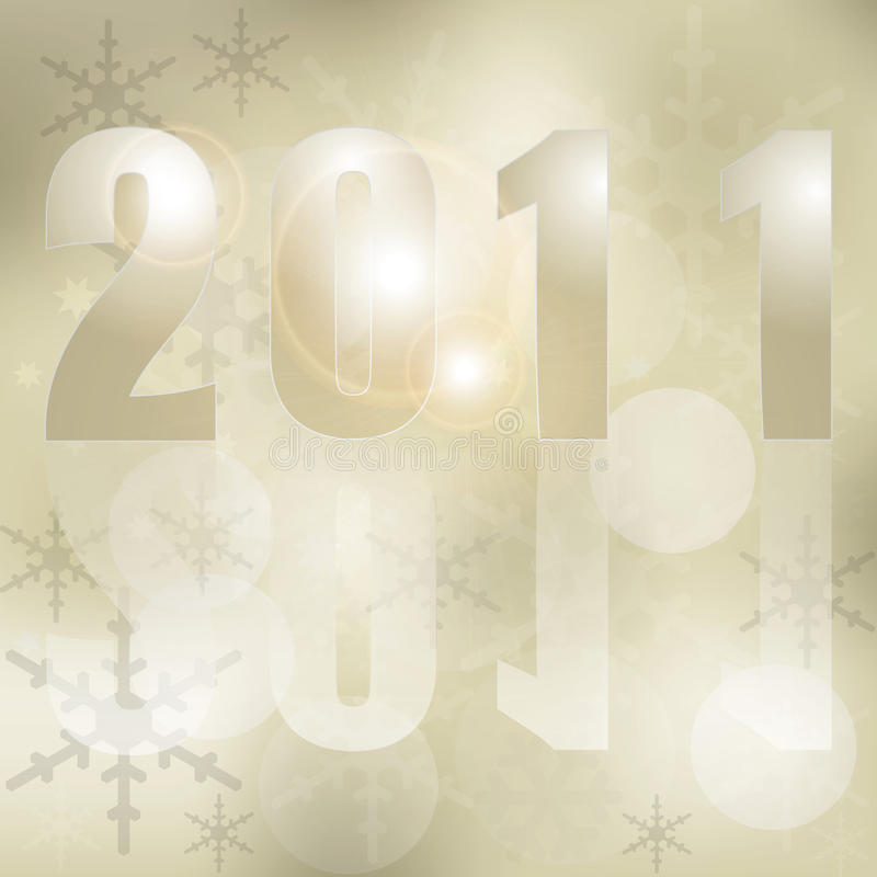 Новый Год 2011 рождества карточки предпосылки иллюстрация штока