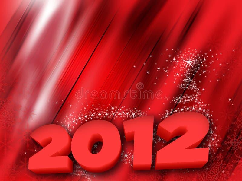 Новый Год 2012 карточек иллюстрация вектора