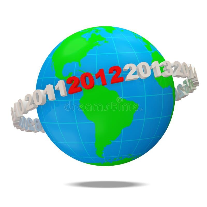 Новый Год 2012 принципиальной схемы бесплатная иллюстрация