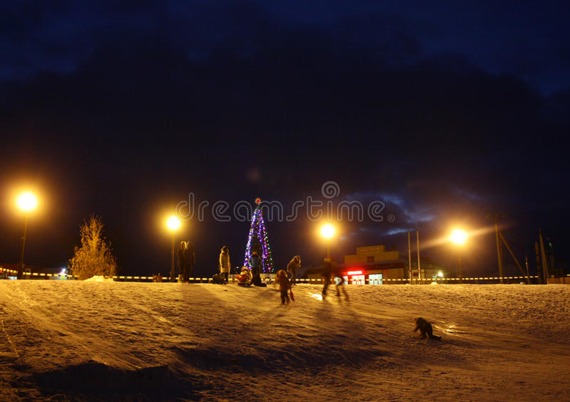 Новый Год в русском стоковое фото