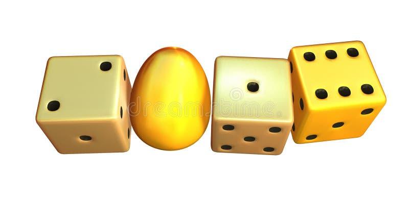 Новый Год 2016 - золотое яичко стоковое изображение rf