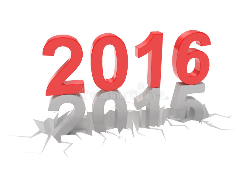 2015-2016 Новый Год 2016 изменения бесплатная иллюстрация