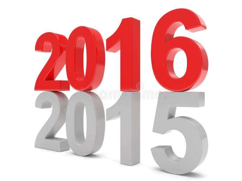 2015-2016 Новый Год 2016 изменения иллюстрация штока