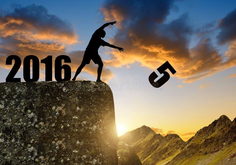 Новый Год 2016 концепции стоковая фотография rf