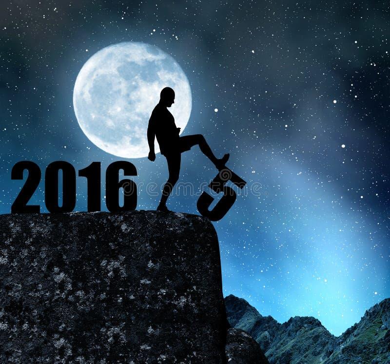 Новый Год 2016 концепции стоковые изображения rf