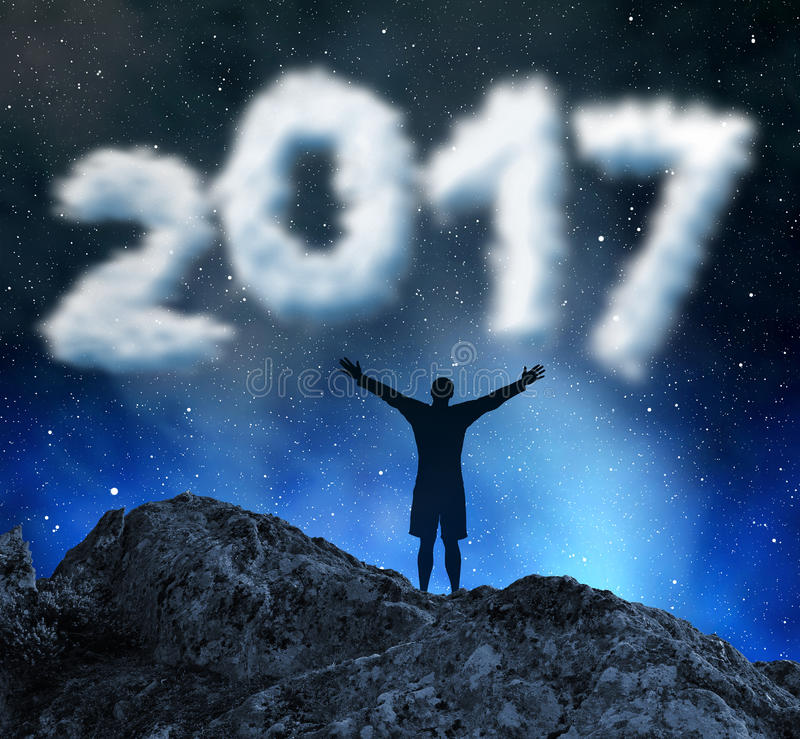 Новый Год 2017 концепции стоковая фотография rf