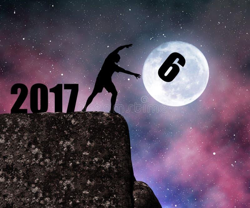 Новый Год 2017 концепции стоковые фото