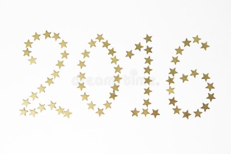 2016 новый год номеров стоковое изображение rf