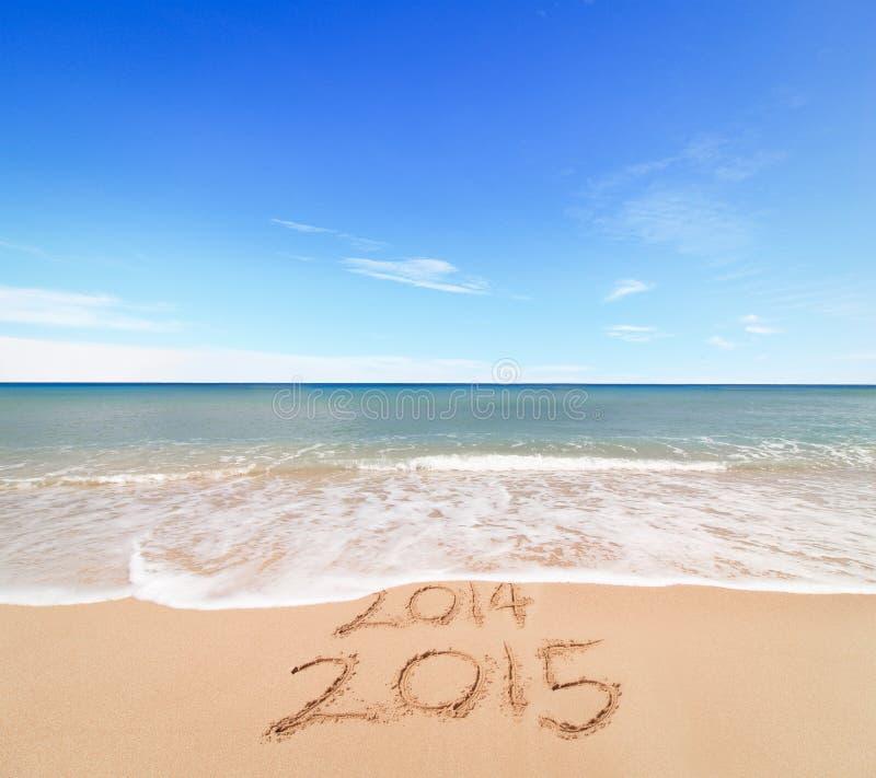 Новый Год 2015 приходит стоковое фото rf