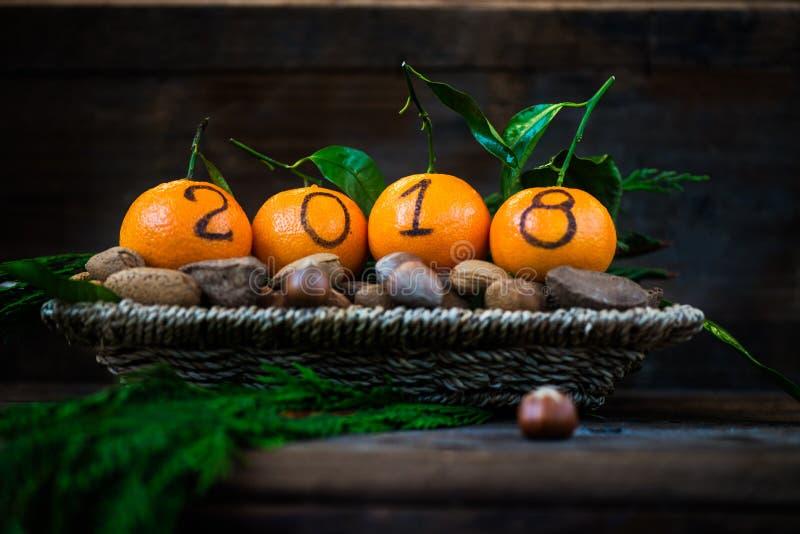 Download Новый Год 2018 приходя концепция Стоковое Изображение - изображение насчитывающей счастливо, плодоовощ: 81801125