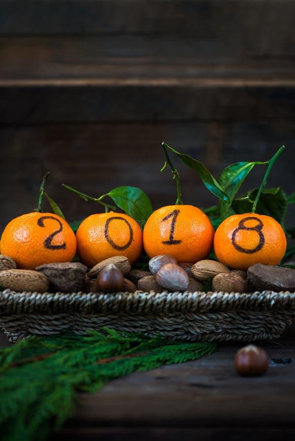 Download Новый Год 2018 приходя концепция Стоковое Фото - изображение насчитывающей конспектов, корзины: 81801154