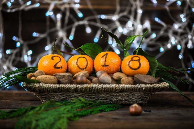 Download Новый Год 2018 приходя концепция Стоковое Изображение - изображение насчитывающей карточка, украшение: 81801199