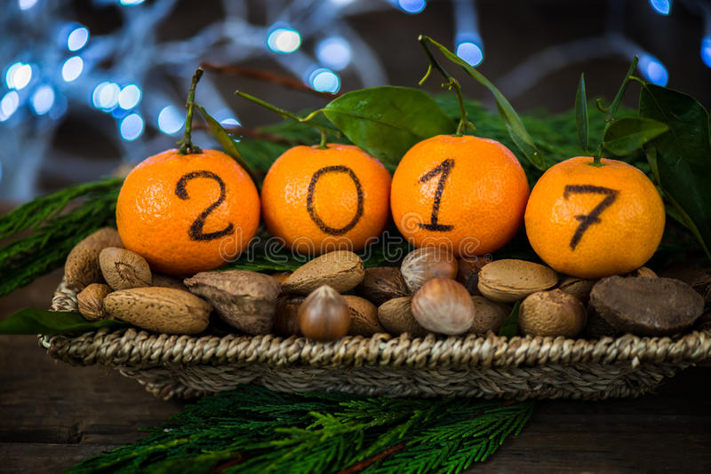 Download Новый Год 2017 приходя концепция Стоковое Фото - изображение насчитывающей конус, номер: 81801208