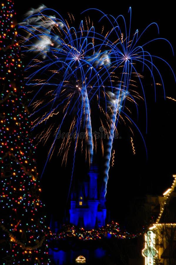 Новый Год торжества на Disneyworld стоковое изображение rf