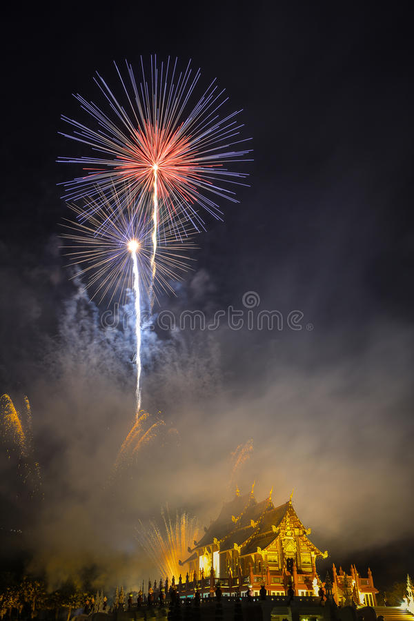 Новый Год 2015 фейерверков стоковая фотография rf