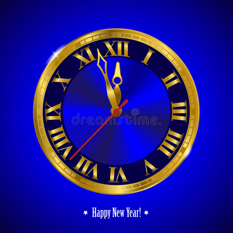 Новый Год часов иллюстрация штока