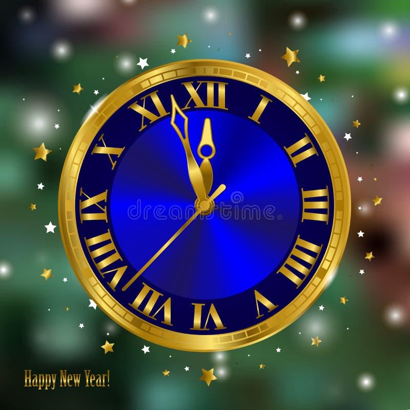 Новый Год часов бесплатная иллюстрация