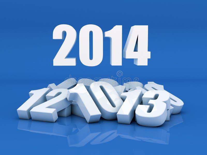 Download Новый Год 2014 иллюстрация штока. иллюстрации насчитывающей представьте - 33726158