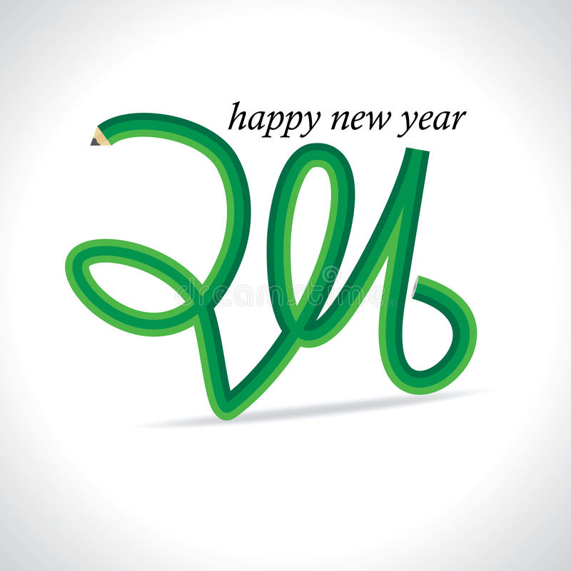 Новый Год 2016 иллюстрация вектора