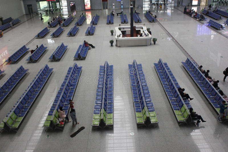 Новый железнодорожный вокзал CRH в Wuhu (Wuhu, Китае) стоковое изображение rf